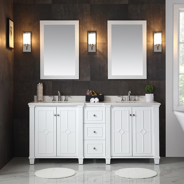 What Is A 75 Bathroom. Ove Decors Positano White 75 Inch Bathroom Vanity