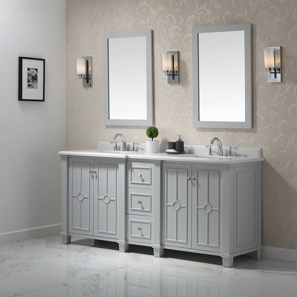 Shop Ove Decors Positano Dove Grey 75 Inch Bathroom Vanity