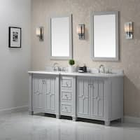 OVE Decors Positano DOVE Grey 75-inch Bathroom Vanity
