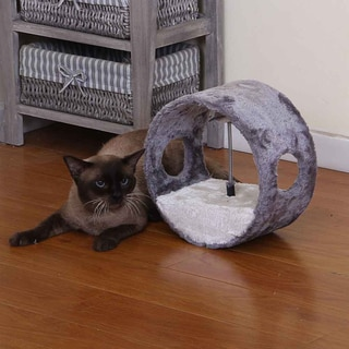 PetPals Vortex Grey Ring Cat Toy