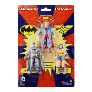 DC Comics Mini 3-Pack of Figures: Batman, Superman, Wonder Woman