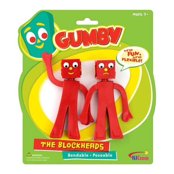"""Gumby The Blockheads 5"""" Bendable Figures Pair"""