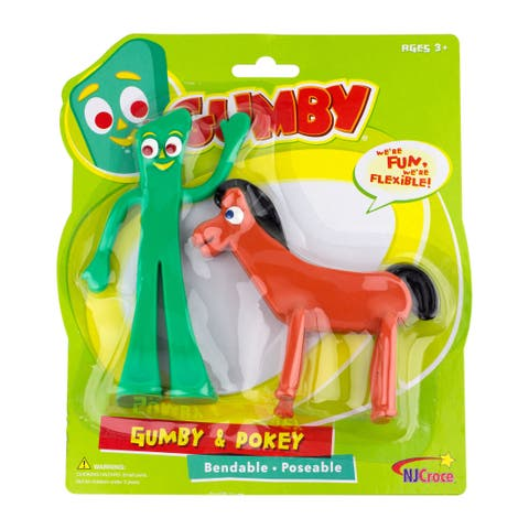 """Gumby and Pokey 6"""" Bendable Figure Pair"""