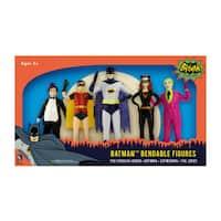 DC Comics - Batman 1966 Bendable Figure Set: The Penguin, Robin, Batman, Catwoman, The Joker