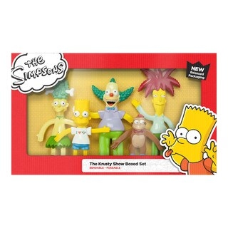 The Simpsons Krusty Show Bendable Figures Set