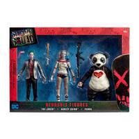 DC Comics - Suicide Squad Bendable Figures Set - The Joker, Harley Quinn, Panda