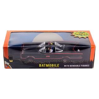 DC Comics 1966 Batmobile Car w/ Batman & Robin Mini Bendable Figures