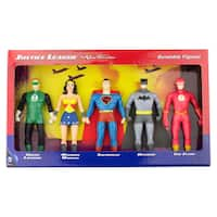 DC Comics Justice League: The New Frontier 5-Piece Bendable Figure Set: Green Lantern, Wonder Woman, Superman, Batman, The Flash