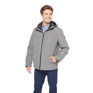 Tommy Hilfiger Men's Poly/Nylon 3-In-1 Hoodie with Zip Out Nylon Quilted Jacket