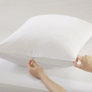 Sleep Philosophy Copper Infused White Zippered Pillow Protector (2 options available)