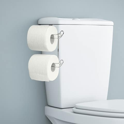 Ybmhome Over the Tank Toilet Paper Tissue Hanging Metal 2-Roll Holder
