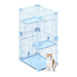 PetPals Wirehouse Two Level Cat Cage