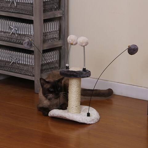 PetPals Zippy Grey Springy Cat Toy