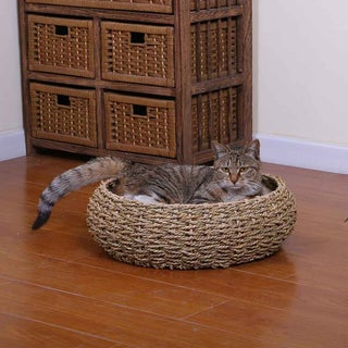 PetPals Seagrass Cat Bed