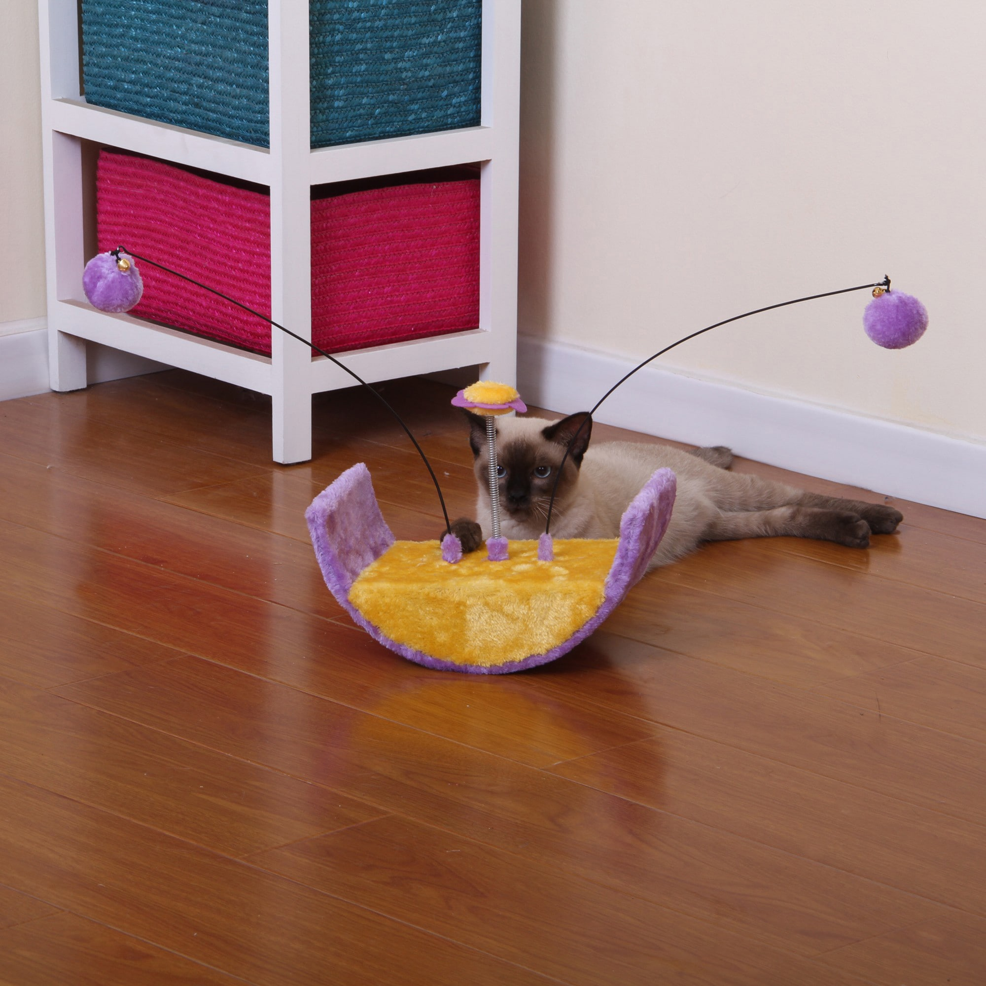 PetPals Whimsi Cradle Shape Cat Toy (PP0029), Purple
