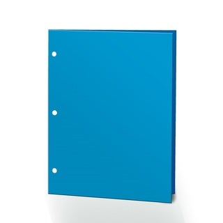 "Promarx Portfolios, 2 Pocket, 12"" x 9.375"", Solid Color, Glossy Portfolios, 3 Hole Punched, 72PK, Neon Blue"