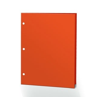 "Pomarx Portfolios, 2 Pocket, 12"" x 9.375"", Solid Color, Glossy Portfolios, 3 Hole Punched, 72PK, Orange"