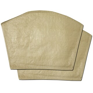 "Restaurant Quality Heavyweight Vinyl Wedge Placemats (13""x18"") Taupe"