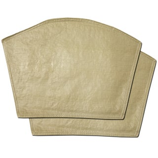 """Restaurant Quality Heavyweight Vinyl Wedge Placemats (13""""x18"""") Taupe"""