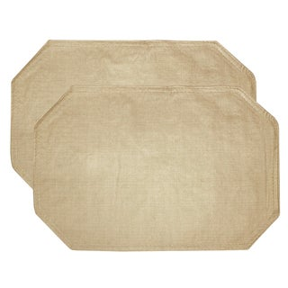"Restaurant Quality Heavyweight Vinyl Placemats (13""x18"") Taupe"