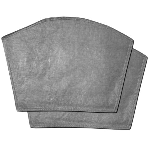 "Restaurant Quality Heavyweight Vinyl Wedge Placemats (13""x18"") Grey"