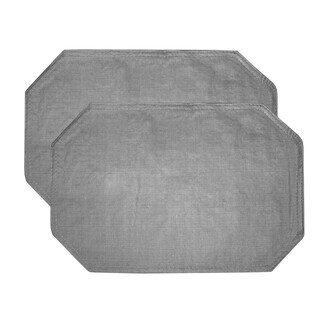 "Restaurant Quality Heavyweight Vinyl Placemats (13""x18"") Grey"