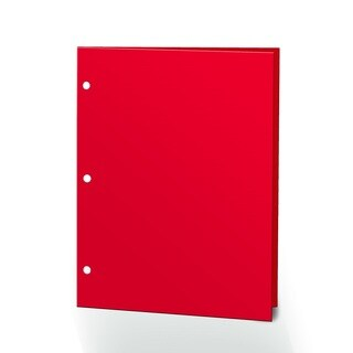 "Promarx Portfolios, 2 Pocket, 12"" x 9.375"", Solid Color, Glossy Portfolios, 3 Hole Punched, 72PK, Red"