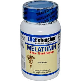 Life Extension Melatonin 6-hour Time Released (60 Tablets)|https://ak1.ostkcdn.com/images/products/16406093/P22754860.jpg?impolicy=medium