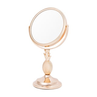 Upper Canada Danielle 2-sided 10x Magnification Pineapple Vanity Mirror