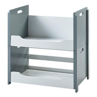 Versanora - Cubo Stacking Storage Unit Set - A&B - White/Grey