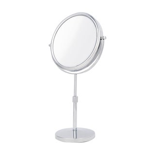 Danielle 2-sided 10x Magnification Chrome Finish Metal Mirror with Extendable Stem