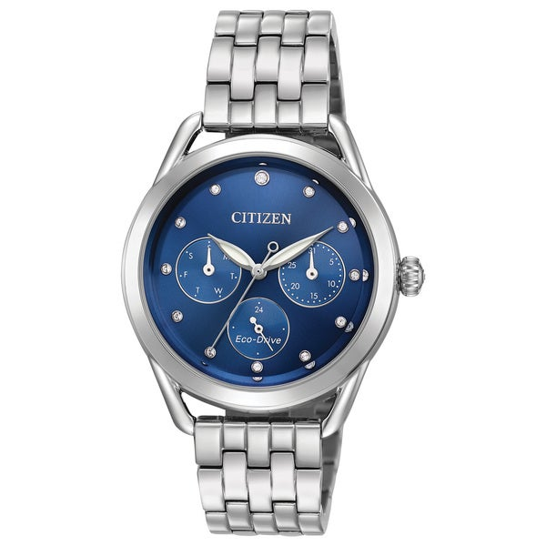 Citizen Ladies Stainless Steel Blue Eco-Drive Watch