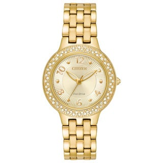 Citizen Ladies Stainless Steel Champagne Eco-Drive Watch