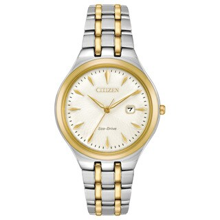 Citizen Ladies Stainless Steel Ivory Eco-Drive Watch