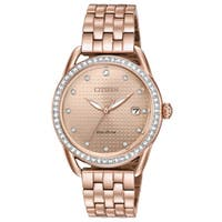 Citizen Ladies Stainless Steel Pink Eco-Drive Watch