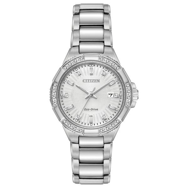 Citizen Ladies Stainless Steel Silver-Tone Eco-Drive Watch