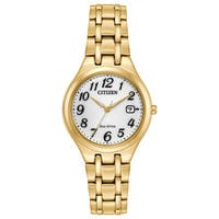 Citizen Ladies Stainless Steel White Eco-Drive Watch