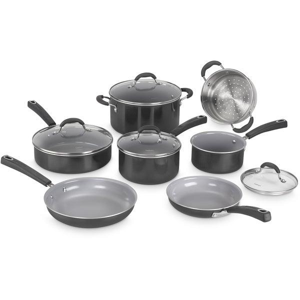 Cuisinart Advantage Ceramica XT Nonstick 11-Piece Cookware Set, Black