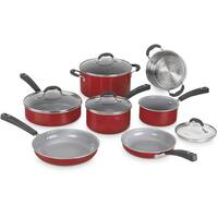 Cuisinart Advantage Ceramica XT Nonstick 11-Piece Cookware Set, Red