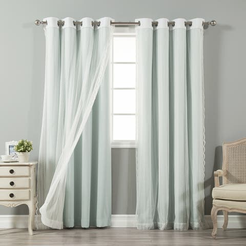 Buy Green Grommet Sheer Curtains Online At Overstock