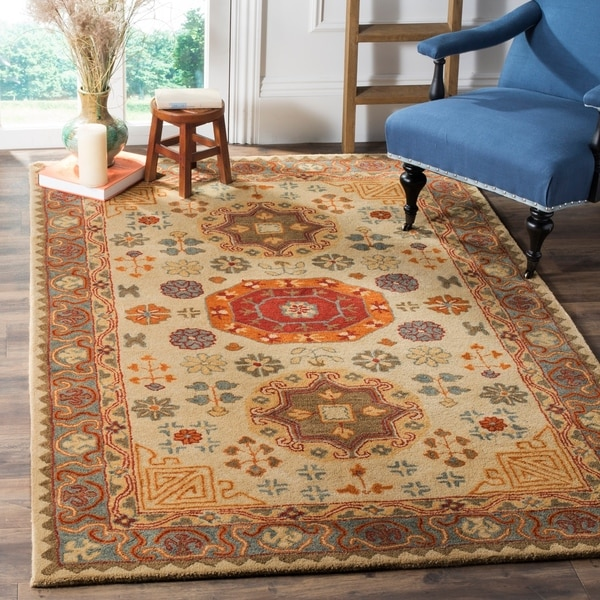 Shop Beige Wool Hand Knotted Oriental Persian Area Rug 6: Shop Safavieh Heritage Traditional Oriental Hand-Tufted