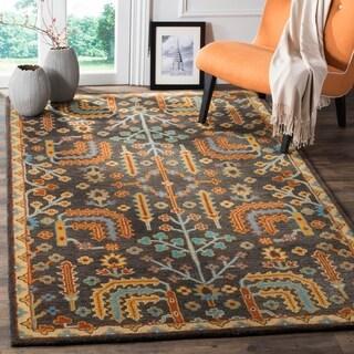 Safavieh Heritage Traditional Oriental Hand-Tufted Wool Charcoal/ Multi Area Rug - 4' x 6'