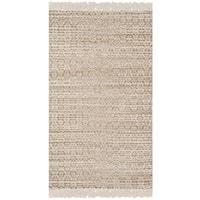 Safavieh Boston Contemporary Geometric Hand-Woven Cotton Beige/ Ivory Area Rug - 3' x 5'