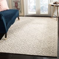 Safavieh Cambridge Transitional Geometric Hand-Tufted Wool Light Grey/ Ivory Area Rug - 4' x 6'