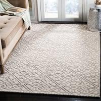 Safavieh Cambridge Transitional Geometric Hand-Tufted Wool Ivory/ Grey Area Rug - 4' x 6'