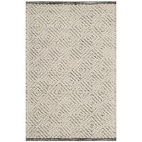 Safavieh Natura Transitional Geometric Hand-Tufted Wool Ivory/ Light Grey Area Rug - 3' x 5'