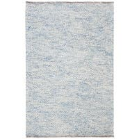 Safavieh Natura Transitional Geometric Hand-Tufted Wool Blue Area Rug - 3' x 5'