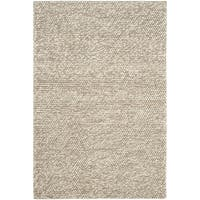 Safavieh Natura Transitional Solid Hand-Tufted Wool Beige Area Rug - 3' x 5'