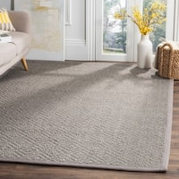 Safavieh Natural Fiber Contemporary Geometric Jute Light Grey/ Grey Area Rug - 4' X 6'