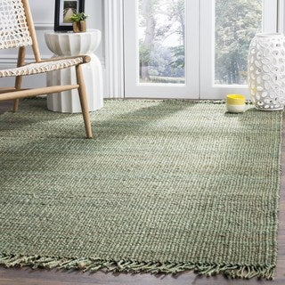 Safavieh Natural Fiber Coastal Hand-woven Jute Green Area Rug (3' x 5')